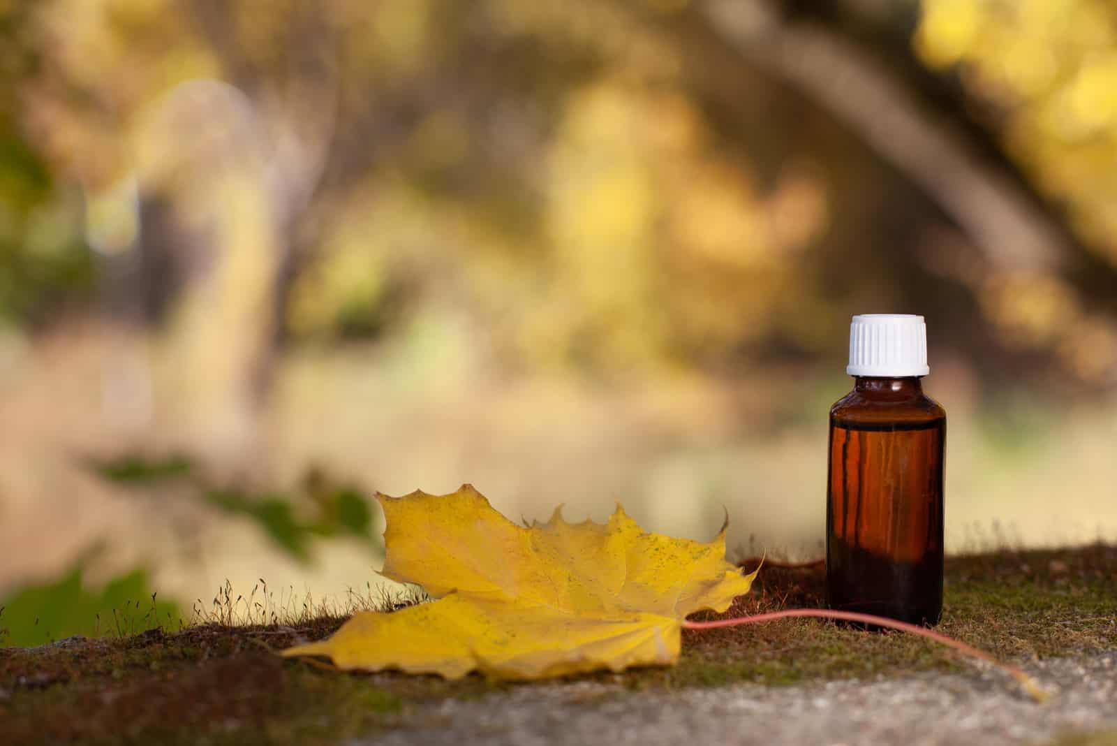 Bachblüten - Aromatherapie, Flasche.