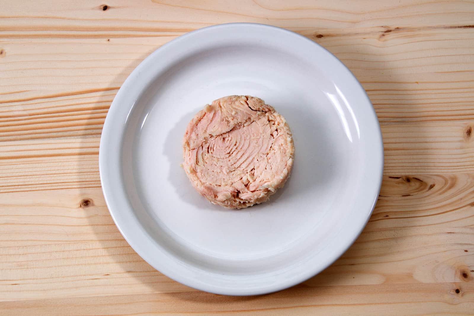 Thunfisch auf weißem Teller