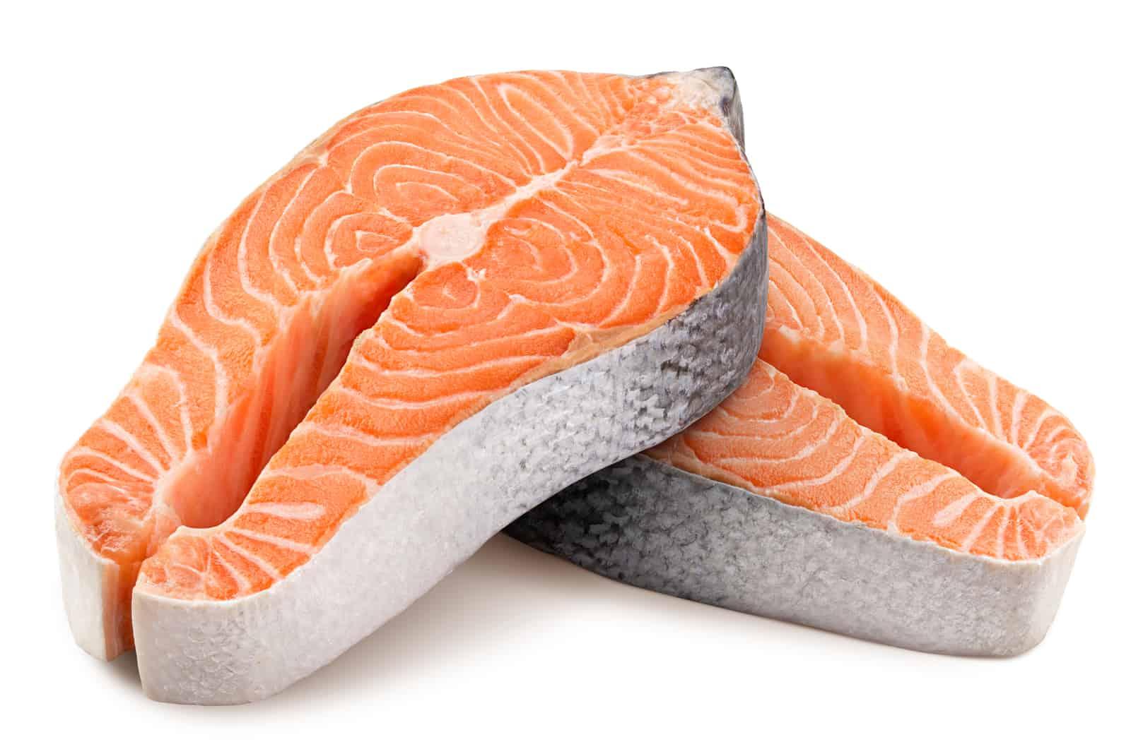Scheibe frischer roher Fisch